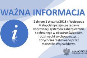 Informacja Małopolskiego Urzędu Wojewódzkiego w Krakowie